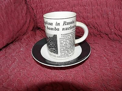 Incredibly Scarce Cinque Ports Rye Pottery Italian Newspaper  Cup & Saucer No 2