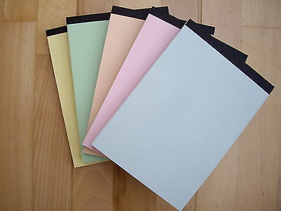 Plain White Paper Memo Pads A5 Size Pack Of 10 With Pastel Covers
