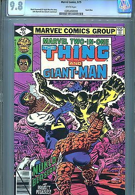 Marvel Two-In-One #55 Cgc 9.8 Thing Giant-Man Byrne Cover & Art 1979