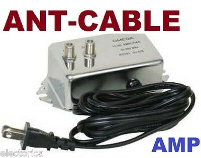 Hd Inline Amplifier Signal Booster Ota  Antenna Cable Tv Amp Over The Air Ant