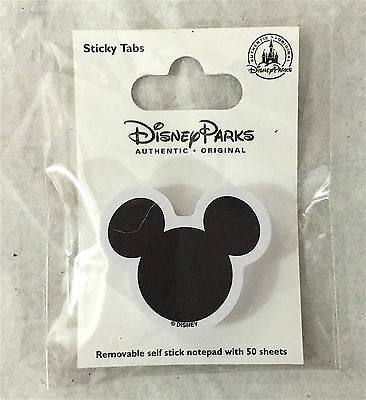 Disney Parks  Mickey Mouse Head Icon Stick On Note Tabs NEW