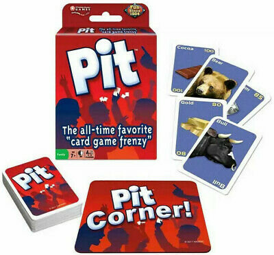PIT CARD GAME board retro vtg bull bear stock market Classic Party Sealed NEW