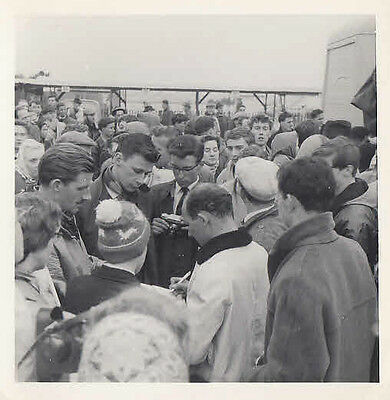 Stirling Moss & Graham Hill Signing At Goodwood Photograph.