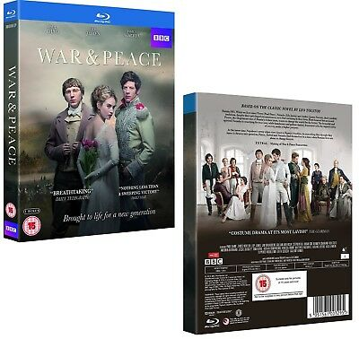 WAR & PEACE (2016): Complete BBC Tolstoy TV Season MiniSeries - NEW RgB BLU-RAY