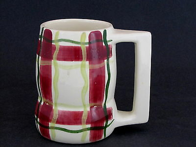 """Purinton Pottery Beer Mug in Normandy Pattern, 5"""" tall"""