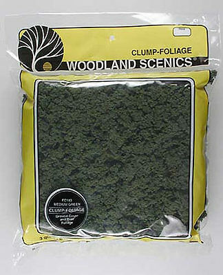 Woodland Scenics FC183 N/HO Clump Foliage Medium Green Train Scenery
