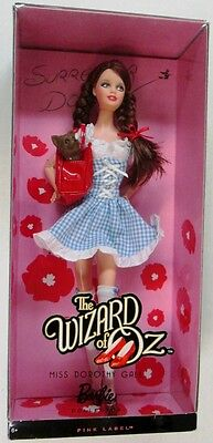 Miss Dorothy Gale Barbie Doll (Wizard of Oz) (Pink Label) (NEW)