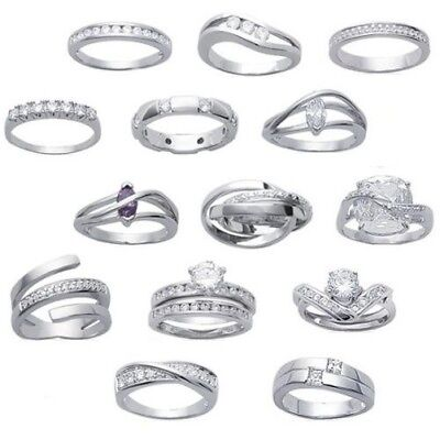 female ALLIANCE ring ZIRCONIUM & solid silver model and ANY SIZE