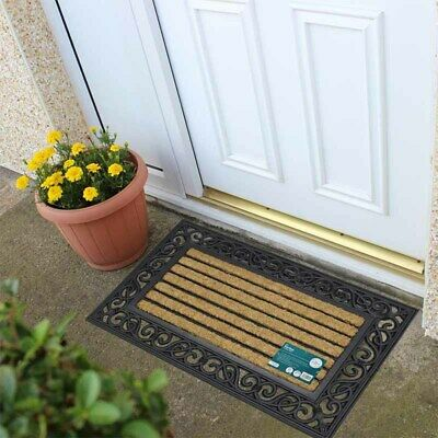 Karina Tuffscrape Doormat Heavy Duty Coir Kitchen Home New 45cm x 75cm