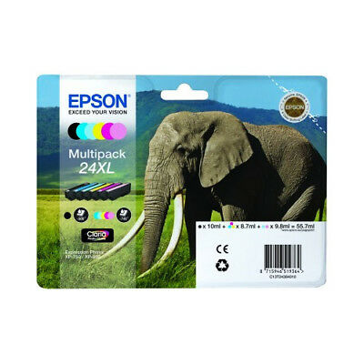 Original High Cap Black & Colour Ink Cartridges for Epson Expression Photo XP760