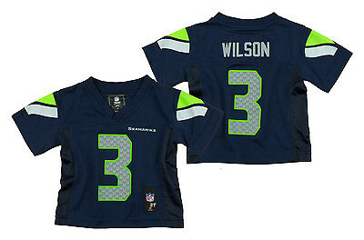 Seattle Seahawks Russell Wilson #3 NFL Toddlers Performance Jersey - Navy