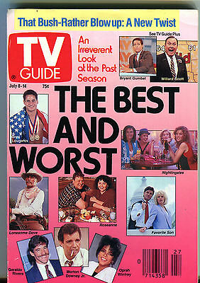 TV Guide July 8-14 1989 The Best and Worst Bush-Rather Blow Up EX 011516jhe