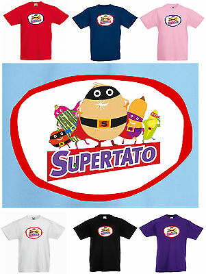 New Kids SUPERTATO Children's T-Shirt. 3 to 15yrs, Ideal for World Book Day!