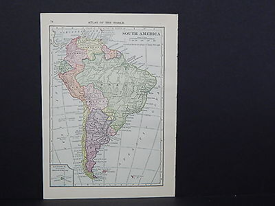 Small Maps, c. 1910, Double Sided, Asia Africa Europe S2#06 South America