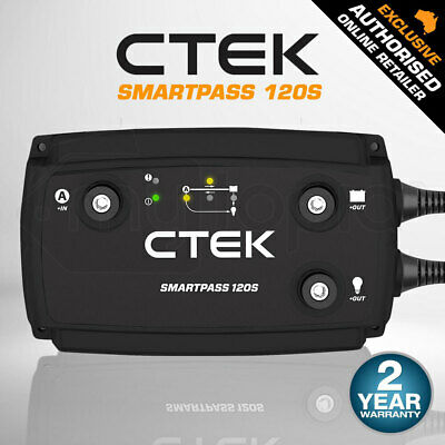 CTEK Smartpass 120 DC to DC Dual Battery Charger Power Management System 12V