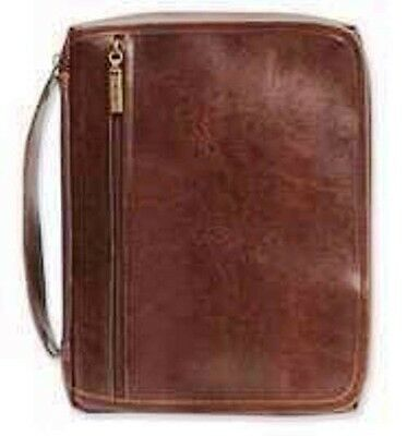 Handy Organizer Distressed Brown Faux Leather X-Large Bible Cover 124680