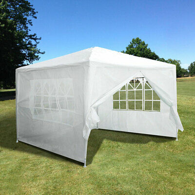 10'x10' Outdoor Canopy Party Wedding Tent White Pavilion w/4 Side Walls