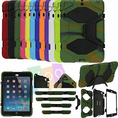 Survivor Dir/Shockproof Protect Heavy Duty Stand Case Cover For iPad Mini Air