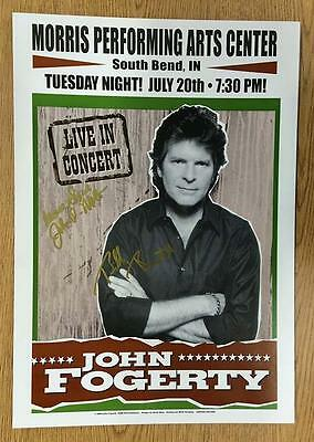 John Fogerty South Bend In 2004 Signed Concert Poster Autograph Ccr