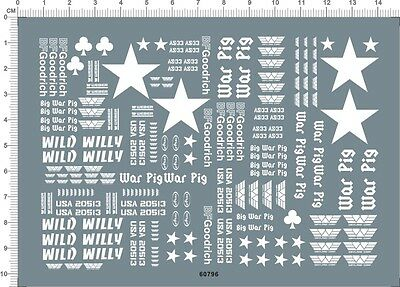 Super Detail Up 1/10TH WILD WILLY CUSTOM markings RC Model Kit Water Slide Decal