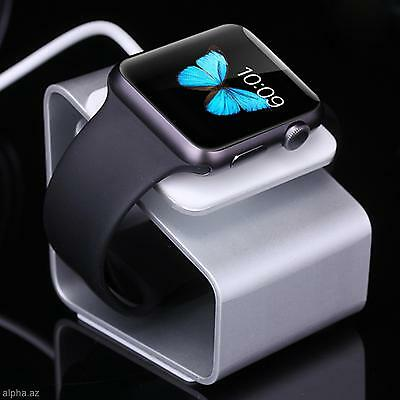 Cool Aluminum Alloy Charging Stand Charger Holder Dock For Apple Watch 38mm 42mm