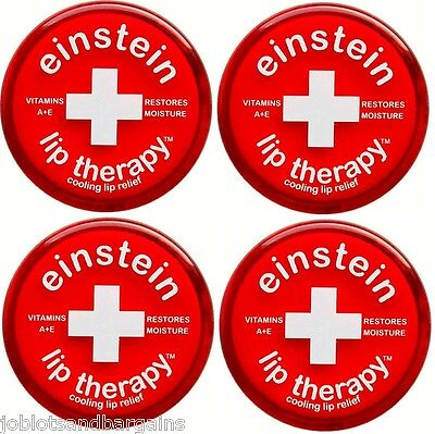 Einstein Lip Therapy Cooling Lip Relief (4 Pack) Vitamin A+E Restores Moisture