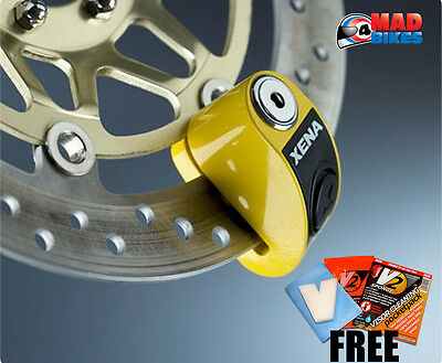XENA XZZ6 ALARMED SCOOTER DISK LOCK 6mm WITH 3 KEYS 120 dB FREE V2