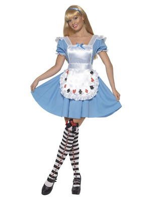 Adult Alice in Wonderland Costume Storybook Womens Ladies Fancy Dress Outfit
