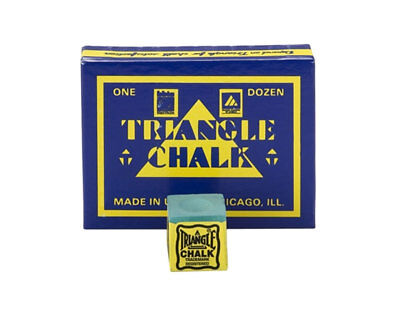Triangle Billiard/Pool Cue Chalk - Green - 1 Pack/12 Pieces