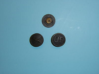 2037 WW 1 US Army EM Collar Disks Infantry Crossed Rifles and US