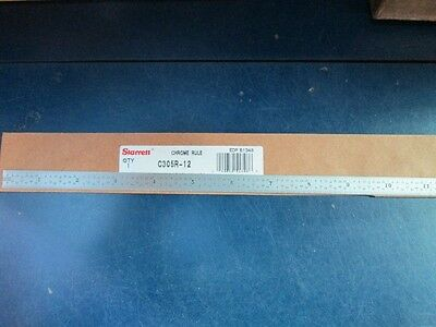 "Starrett C305R-12 Full Flexible Steel Rule 12"" Scale New/Unused"