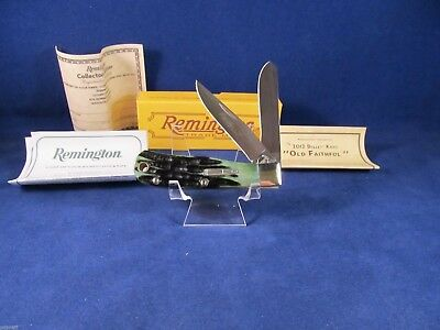 """2012 Remington Baby Bullet Trapper """"OLD FAITHFUL"""" Knife R18948 Mint In Box Nice"""