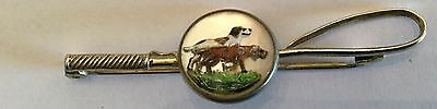 Crop Fox Hounds in Crystal Costume Jewelry Brass Pin