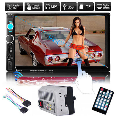 """7"""" Double 2 Din Bluetooth Car Stereo MP5 Player FM/USB/SD Touch Radio AUX"""