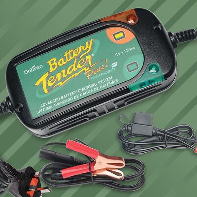 Battery Tender Plus 1.25Ah Charger Motorcycle Motorbike +Quick Connection Leads