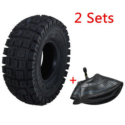 2x Mini Pocket ATV TYRE + TUBE 3.00-4 Tire 9x3.5-4 Quad Wheel Front Rear 49cc TA