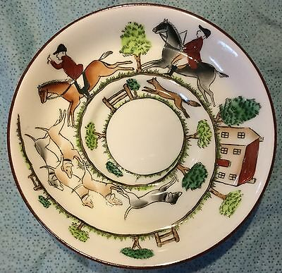 Fox Hunt Hunting Crown Staffordshire Saucer Only