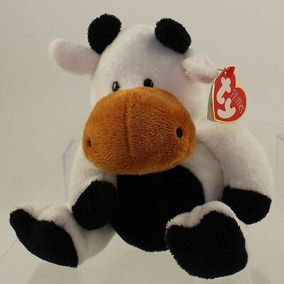 TY Pluffies - GRAZER the Cow (11 inch) *NM*