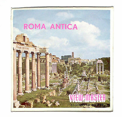 Vintage SAWYERS FOREIGN View Master ROMA ANTICA C035 ANCIENT ROME italy ITALIA !