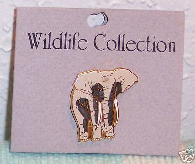 NWT African ELEPHANT Champleve CLOISONNE Enamel PIN