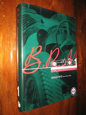 """BRM Front Engined Cars 1945-1960 BOOK scarce 1994 edit. """"An award-winning book"""""""