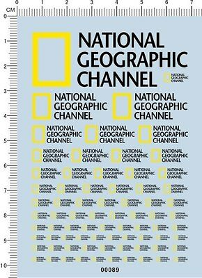 Detail NATIONAL GEOGRAPHIC Logo for different scales Model Car Water Slide Decal