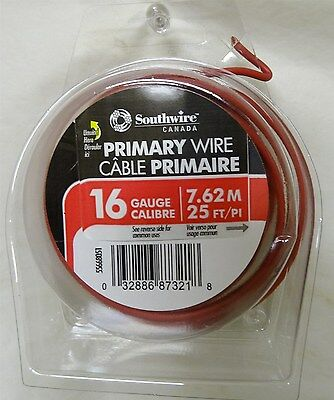 Southwire 25-ft 16AWG Stranded Red GPT Primary Wire 55668051