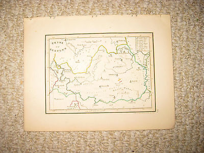 Antique 1836 Tribe Of Zebulon Israel Handcolor Map Jewish Judaism Torah Fine Nr