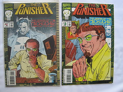The PUNISHER : The ORIGIN of MICROCHIP : COMPLETE 2 ISSUE SERIES. MARVEL 1993