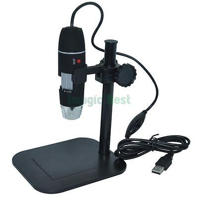 1X-500X 2.0MP Digital USB Adjustable Microscope Camera Vidio Endoscope Stand