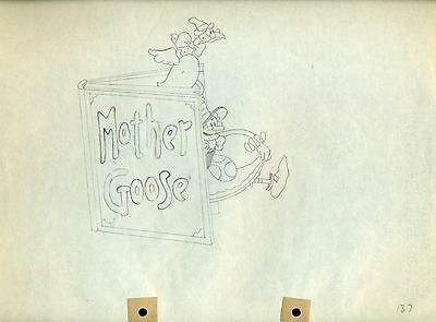 Mother Goose Melodies 1931 Disney cel production Drawing Ub Iwerks