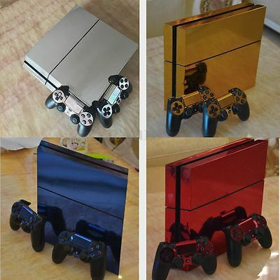 Glossy Decal Skin Sticker Cover for Playstation 4 PS4 Console + 2 Controllers