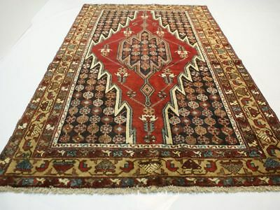 no.3426 Tapis ORIENTAL styleMASLAGHAN y.1980 Laine Fait Main ca.204 x 129 cm