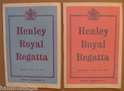 "(2)1966  Programs: ""Henley Royal Regatta"", London, Amateur Rowing Association"